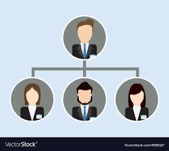 Organization Chart Icon Business Design