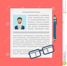 Writing A Business Cv Resume Concept Stock Vector Illustration