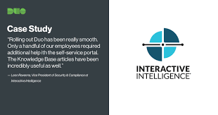 Interactive Intelligence Duo Case Study Duo Security
