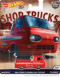 Hot Wheels Car Culture Shop Trucks '60 Ford Econoline Pickup Truck 1 ...