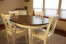 Refinishing A Kitchen Table Refinished Kitchen Table Why Not Give It A Try
