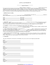 Download a free last will template. Arkansas Last Will And Testament Form Pdfsimpli