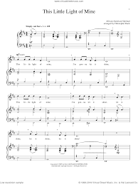 This Little Light Of Mine Sheet Music Free Download This Little Light Of Mine Sheet Music For Voice And Piano Pdf