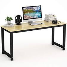 tribesigns computer desk 63u0026quot large office desk table study writing for home large office desk u25 desk