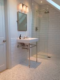 Part Tiled Bathrooms Img 1114 By Nams58 Ensuite Loft Bathroom Marble Flooring Metro
