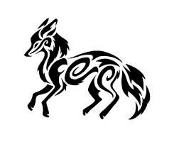 tribal fox drawing. Perfect Fox Tribal Fox By Yupio On Clipart Library Inside Fox Drawing Library