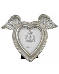 mother of pearl angel wing heart photo frame 3 x 3 5