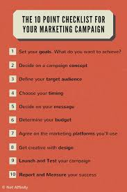 the 10 point checklist for a successful digital marketing campaign the 10 point checklist for your marketing campaign