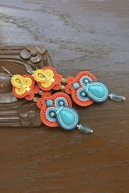 tags huge earrings colorful chandelier