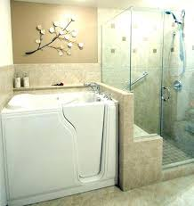 walk in tub with shower walk tub shower combo in this master bathroom remodel we installed
