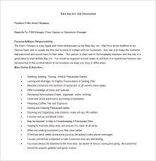 11 Hostess Job Description Templates Free Sample Example