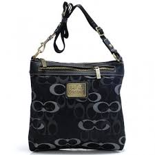 Coach Legacy Swingpack In Signature Large Black Crossbody Bags 895