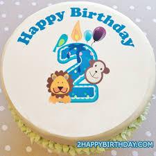 Happy 2nd Birthday Cake With Kids Name 2happybirthday