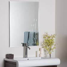 frameless mirrors for bathrooms. Frameless Wall Mirror With Flower Accent For Home Furniture Ideas Mirrors Bathrooms R
