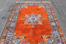 moroccan bold orange red rug 8 ft 5 in by 5 ft 6 in 395