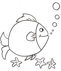 Pesce Che Fa Le Bolle Da Colorare Cose Per Crescere