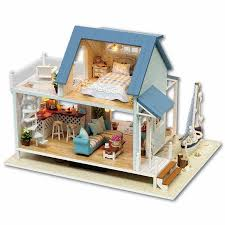 whole diy miniature wooden doll house furniture kits toys handmade craft miniature model kit dollhouse toys gift for childrena037 kit dollhouse diy