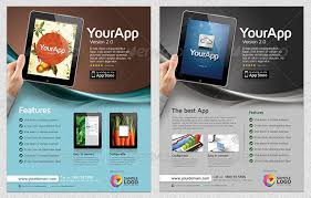 website advertisement template 30 effective web mobile apps flyer psd templates web graphic