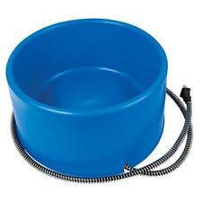 item 8 F.I. HEATED ELECTRIC DOG CAT PET WATER BOWL DISH OUTDOOR WATERER BLUE 1.5 GAL -F.I. Farm Innovators Heated Pet Bowl 1 Gallon Blue Dog Cat Dish Safe Cord