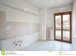Empty Kitchen Wall Empty Kitchen Room In Dirty Apartment Stock Photo Image 39523613