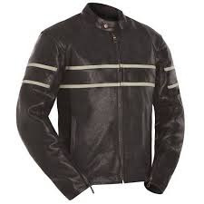 cafe racer leather motorcycle jacket for men s jacket