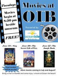 Holden Beach Tide Chart July 2017 Outdoor Movie Nights At Ocean Isle Beach Ocean Isle