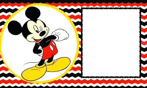 Mickey Mouse Birthday Invitations Template Bellaroo Co