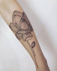магнолия Tattoo Linework Lov Small Tattoo татуировки тату
