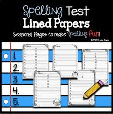Spelling Test Template Beauteous Spelling Test Template Editable Teaching Resources Teachers Pay