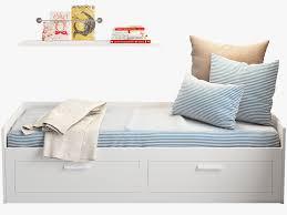 ikea brimnes bed. Ikea Brimnes Bed 2 3d Model Max Obj Fbx Mtl 5