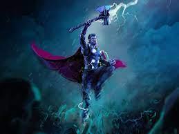 Desktop Wallpaper Thor, thunder storm ...