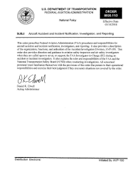 Fillable Online Faa Order 8020 11d Aircraft Accident And Incident