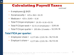 Estimate Payroll Taxes Calculator Payroll 2014 Cengage Learning All Rights Reserved May Not