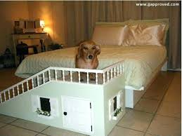 diy dog ramp for deck stairs pet bed tall two piece pets 2 plans bedding linen build a dog ramp
