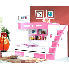 Image Single Pink Kindery Pink Loft Beds With Desk For Girls Bunk Stairs Kindery