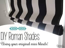 how to make roman shades using your existing mini blinds brilliant