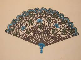 Bronze Wall Decor Vintage Burwood Products Large 43 Fan Wall Decor Bronze Blue Red