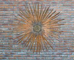 outdoor metal wall art brick wall artistic brown gorgeous mysterious design decoration rock white line metal on mysterious sun face metal wall art with outdoor metal wall art brick wall artistic brown gorgeous mysterious