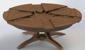 image of wonderful expandable dining table round