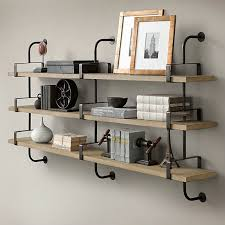 metal and wood bookshelves unconvincing wall shelves intended for crafts shelf home ideas 27