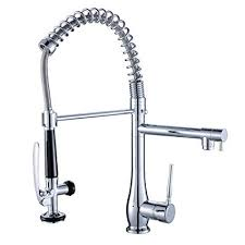 <b>FLG</b> Spring Single Handle <b>Pull</b> Down Kitchen Sink Faucet with ...
