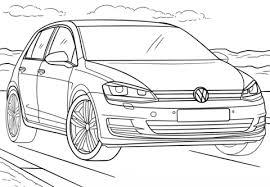 Volkswagen Golf Kleurplaat Gratis Kleurplaten Printen