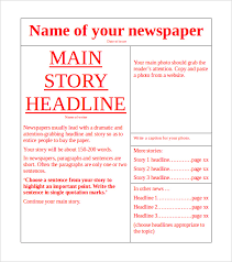 Newspaper First Page Template Newspaper Page Template Zlatan Fontanacountryinn Com