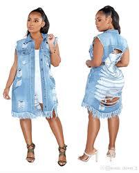 Jeans Dress Designs Jean Shirt Dress Jean Dress Designer Dresses Womens Blue Jeans Denim Sleeveless Casual Dress Jean Dresses Sexy Hole Womens Jeans Klw1153 Cute Black