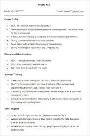 Fresher Job Resume 15 Format Of Resume For Fresher Leterformat