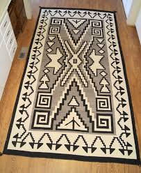 circa 1930 two grey hills navajo rug
