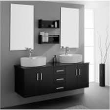 White Wood Bathroom Vanity Black Bathroom Vanity Design Element Jade Double Undermount Sink