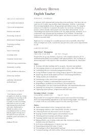 Resume Samples In English Sample For Teachers – Creer.pro