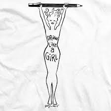 How To Draw Girl Shirts Jill Thompson Draw Like A Girl Female Figure T Shirt