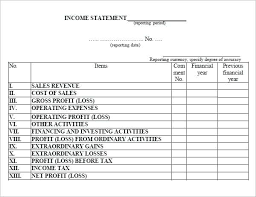 Monthly Profit And Loss Statement Template Profit And Loss Statement Template